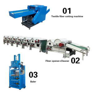 waste textile recycling line