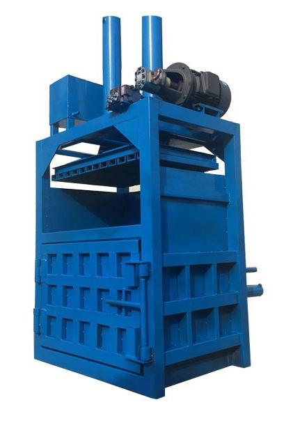 Double cylinder vertical hydraulic baler