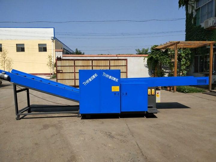 Large fiber cutting machine