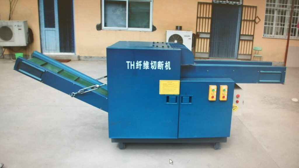Clothing fiber cutting machine