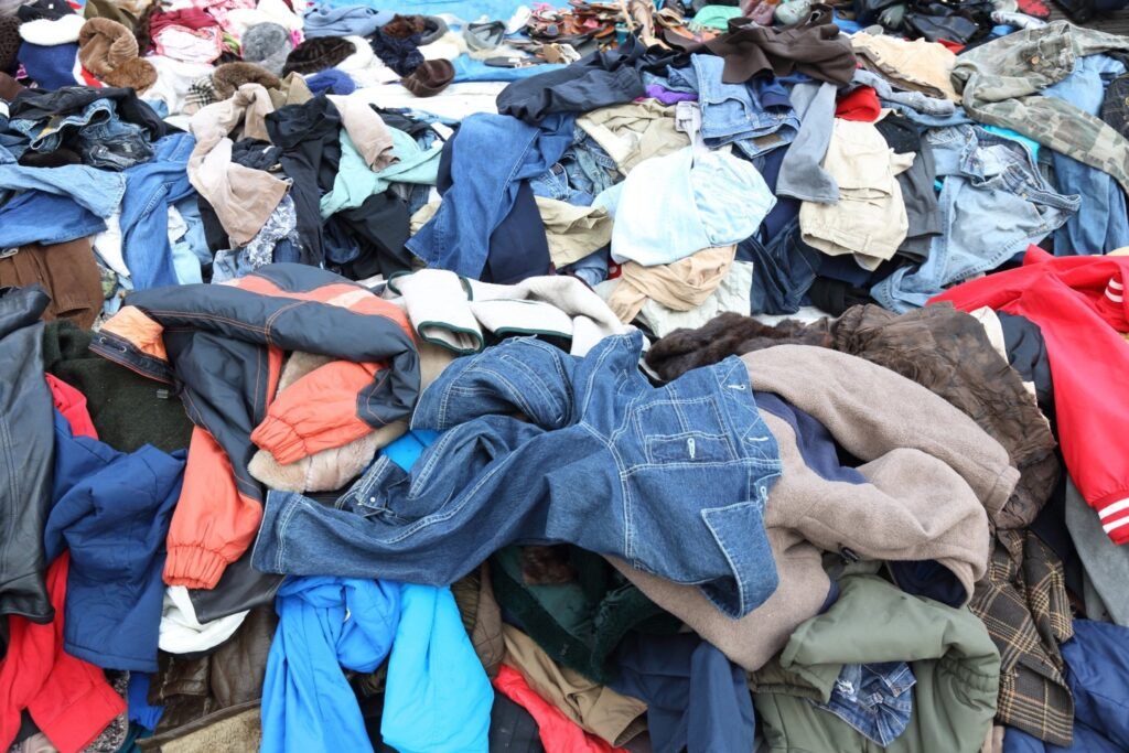 Sort out the old clothes