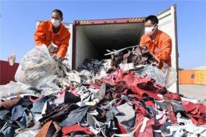 Waste textile fibre